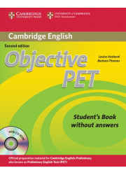 Підручник Objective PET Second Edition Student's Book without answers with CD-ROM