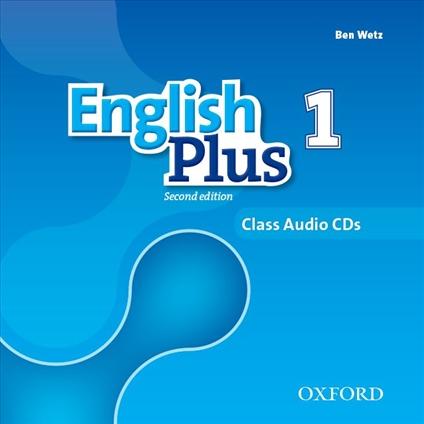 аудіо диск English Plus 1 Second Edition Class Audio Cd